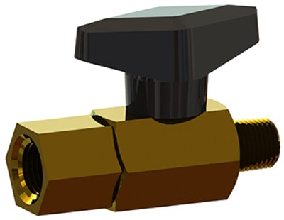 BBV series two-way brass ball valves from ISM.