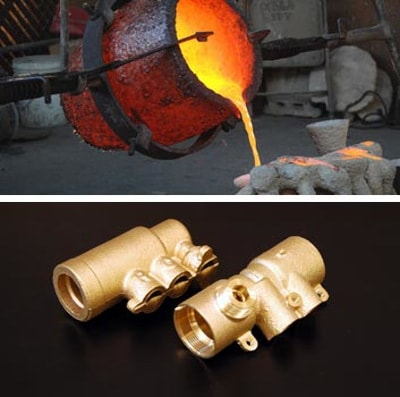 Brass casting from Rajshi Industries.