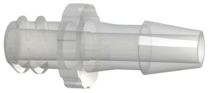 C F L 7 series I S O 8 0 3 6 9 dash 7 compliant female luer thread by hose barb plastic connector.