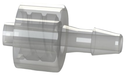C I M L 7 series I S O 8 0 3 6 9 dash 7 compliant male luer lock by hose barb plastic fitting.