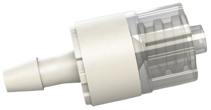 F L B 7 series male luer lock by hose barb plastic filter fitting.