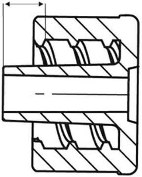 The I S O 8 0 3 6 9 dash 7 luer standards t dimension.