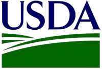 USDA, United States Department of Agriculture logo.