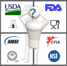 Food Contact Materials graphic with regulatory agency organization logos.