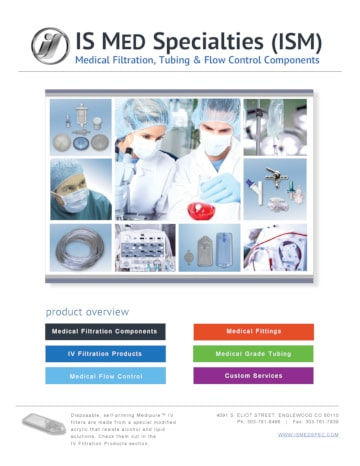 IS Med Medical Products catalog front cover