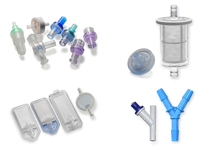 A collage of different medical component products from I S M