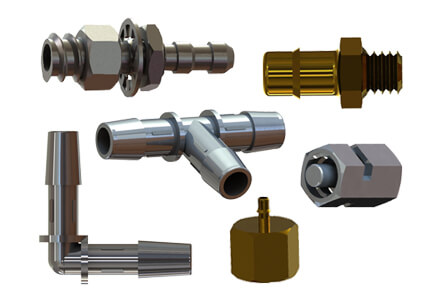 A sample selection of the types of metal fittings carried by ISM.