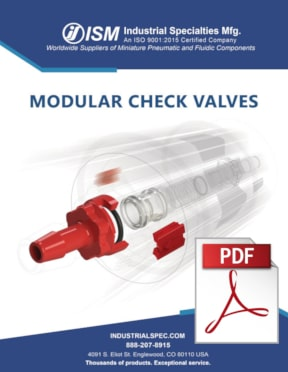 Modular check valves product overview P D F front cover.