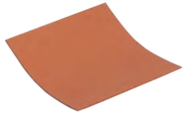 United Silicone Ultrasil (red) dead soft aluminum bonded silicone rubber sheet stock.