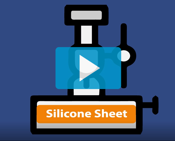 A video thumbnail for a short video about silicone rubber to metal bonding for high temperature applications like heat seal packaging. Click here to watch the video.