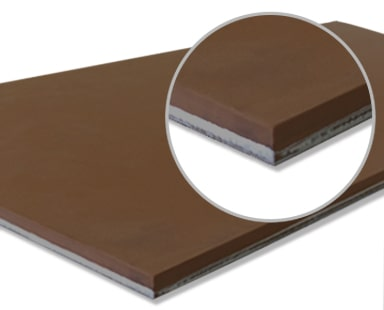 United Silicone Thermosil (brown) metal bonded silicone rubber sheet stock.