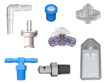 Example of the medical products available from ISM including IV Filters, Flow Control & Tubing.