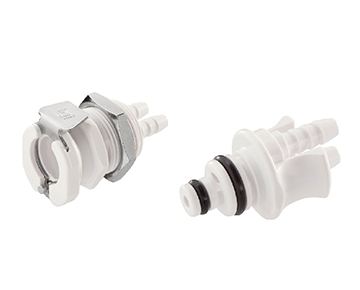42AB Series - Medical ABS Dual Tube Quick Couplings