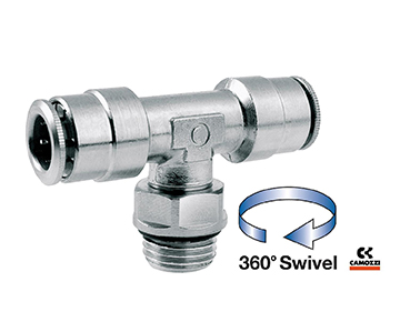6432 Series - Male BSPP & Metric Branch Swivel Tee