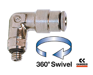 6522 Series - Male UNF Swivel Elbow