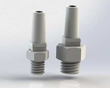 CIMLSTA Series - Economical Male Slip Luer to Thread