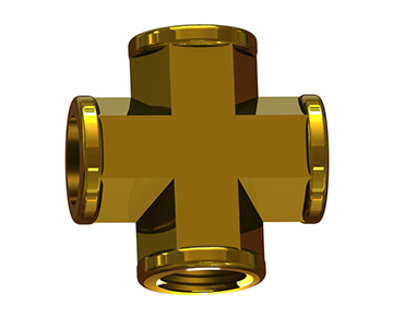 Metal Threaded Cross