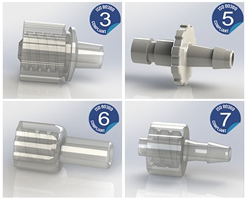 ISO 80369 Compliant Fittings, Filters and Valves