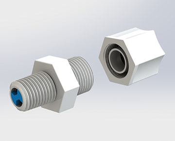 JCV Series - Compression x Male NPT Check Valve