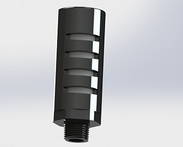 PUM Series - High-Flow Plastic Muffler