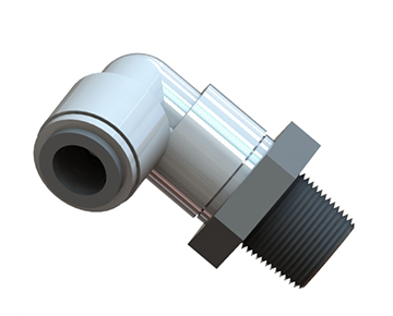QCSE Series - Male NPT x Push-In Swivel Elbow