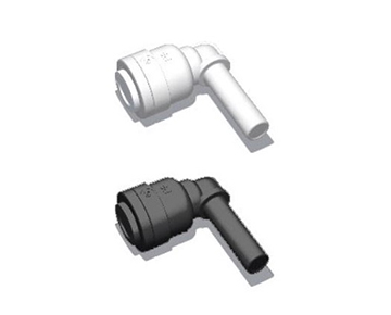 QCSEEG Series - Push-In x Stem Elbow - Polypropylene
