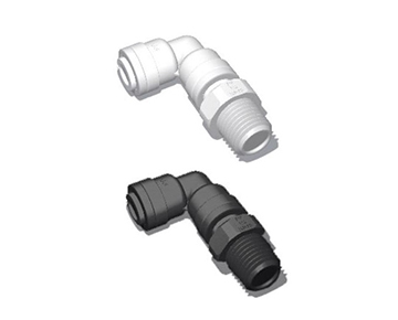 QCSEG - Male NPT x Push-In Swivel Elbow - Polypropylene