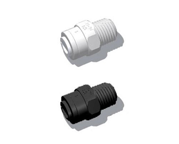 QCSG Series - Male NPT x Push-In - Polypropylene