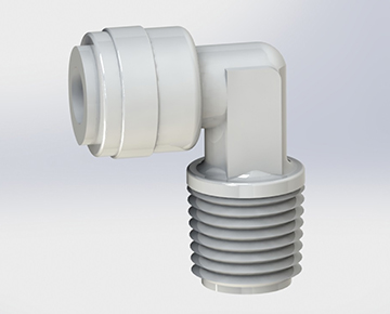 QCUED Series - Male NPT x Push-In Fixed Elbow