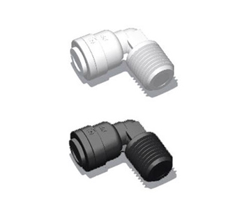 QCUEG Series - NPT x Push-In Fixed Elbow - Polypropylene
